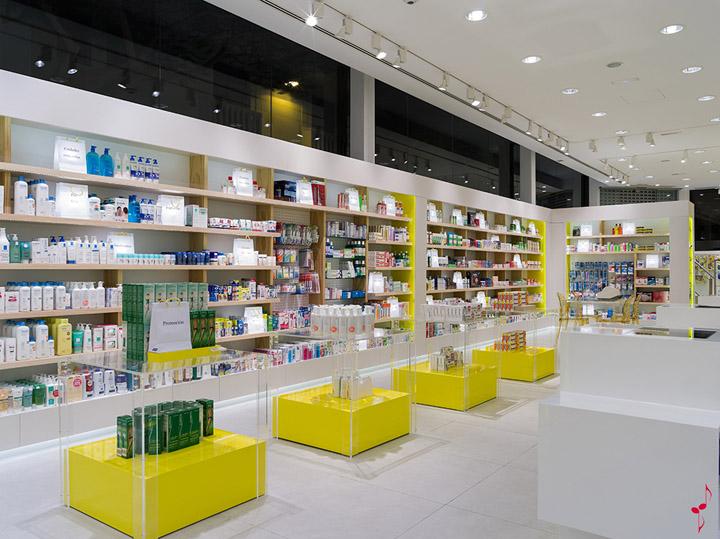 Esempio di illuminazione a led in alcune farmacie